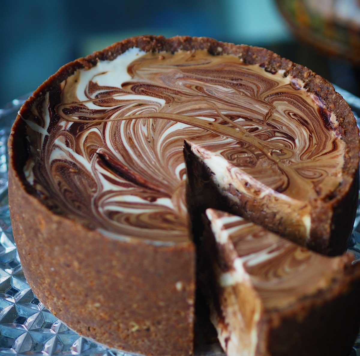 Espresso & Dark Chocolate Swirl Cheesecake